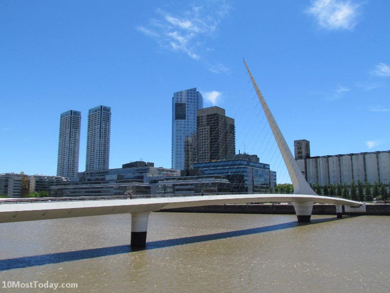Most Amazing Drawbridges In The World: Puente de la Mujer