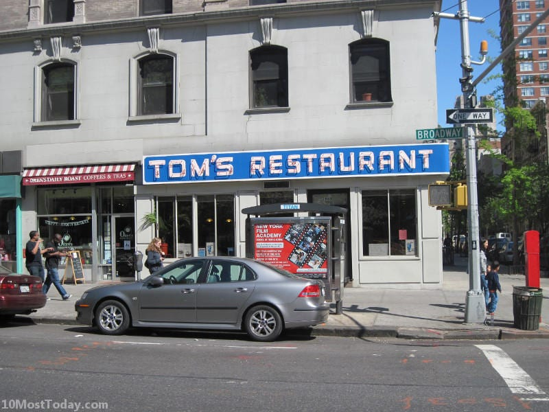 Pilgrimage Sites For TV Lovers: Tom's Restaurant, New York City
