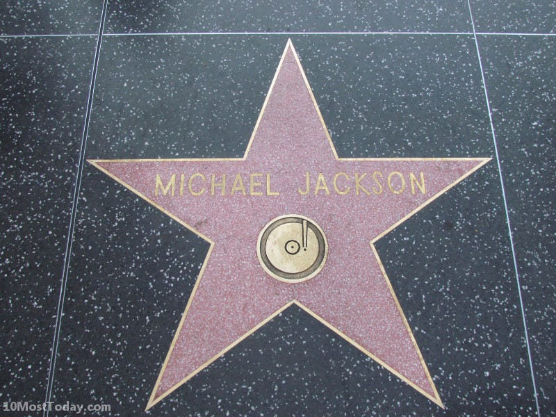 The Michael Jackson star. Just one out of more than 2,500 stars