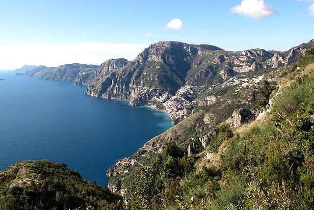 The Amalfi Coast world heritage site, Italy