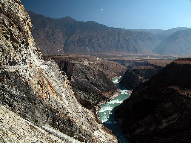 The Yangzi River in the Three Parallel Rivers of Yunnan heritage sites