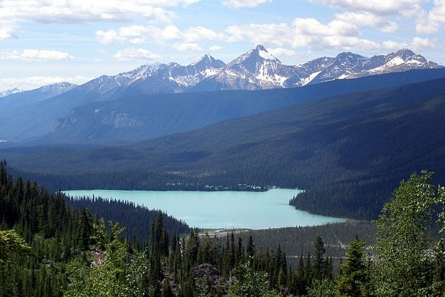 Emerald Lake in Yoho National Park, part of the Canadian Rocky Mountain Parks heritage site