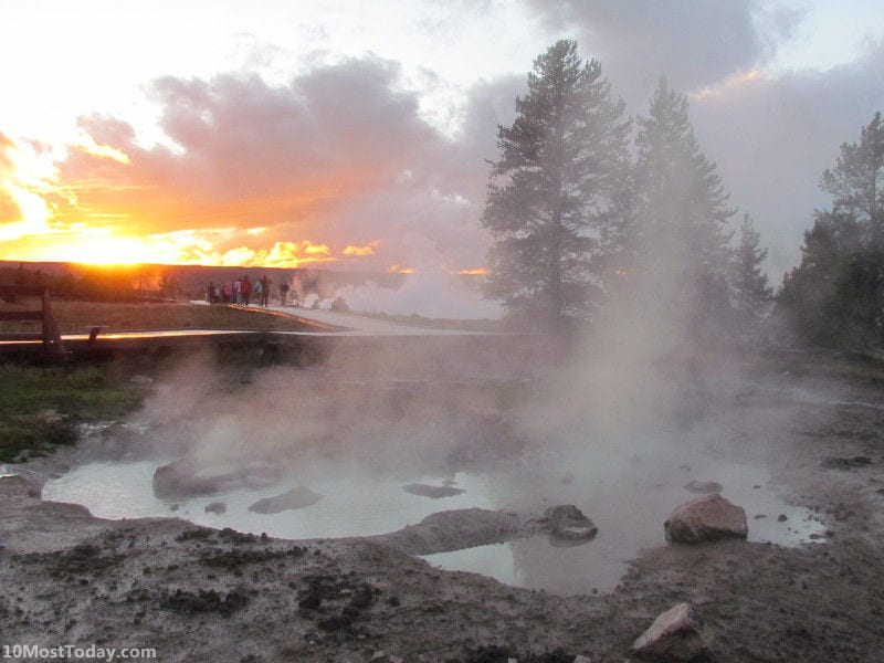 Yellowstone national park - one of the United States' 13 natural world heritage sites