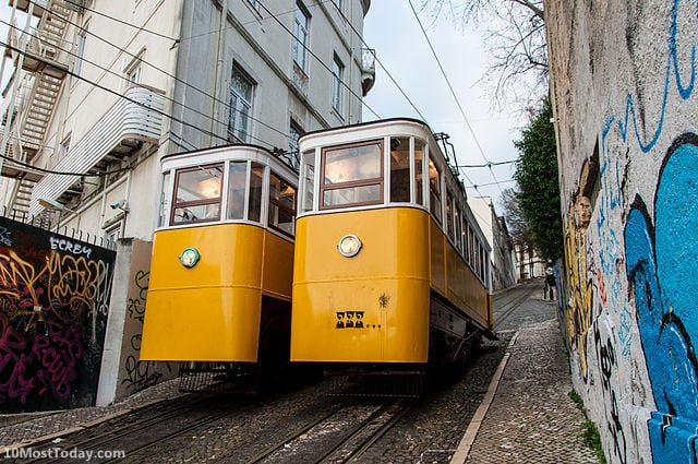 Best Funiculars In The World: Glória Funicular, Lisbon