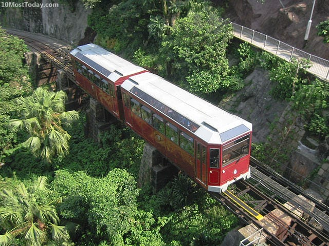 Best Funiculars In The World: Peak Tramway, Hong Kong