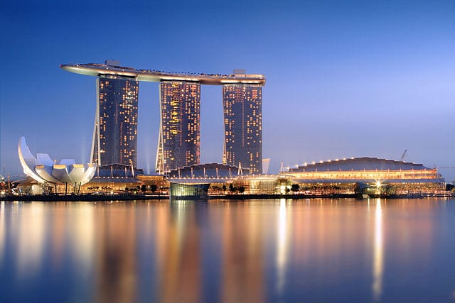 The Marina Bay Sands resort in Singapore. Singapore is a relatively new destination  for gamblers