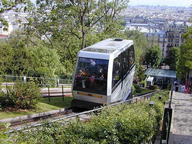 Best Funiculars In The World: Montmartre Funicular, Paris