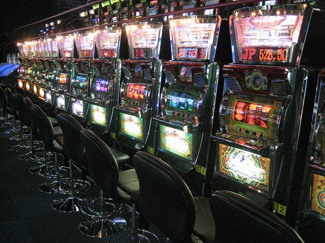 Slot machines. Can be played online too