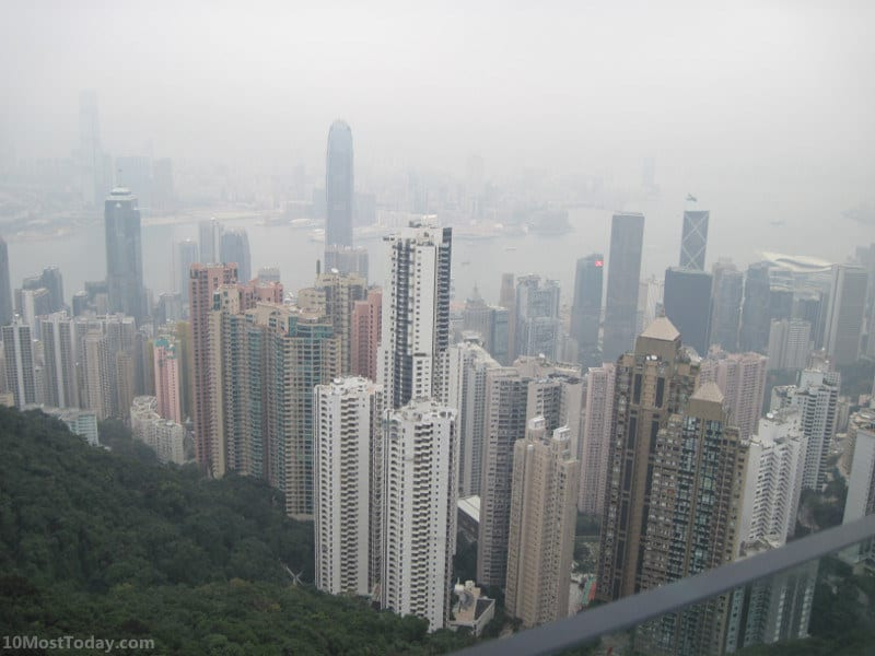 The view from Victoria Peak, Hong Kong