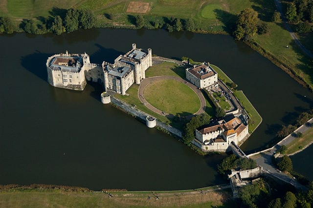 Leeds castle from the air