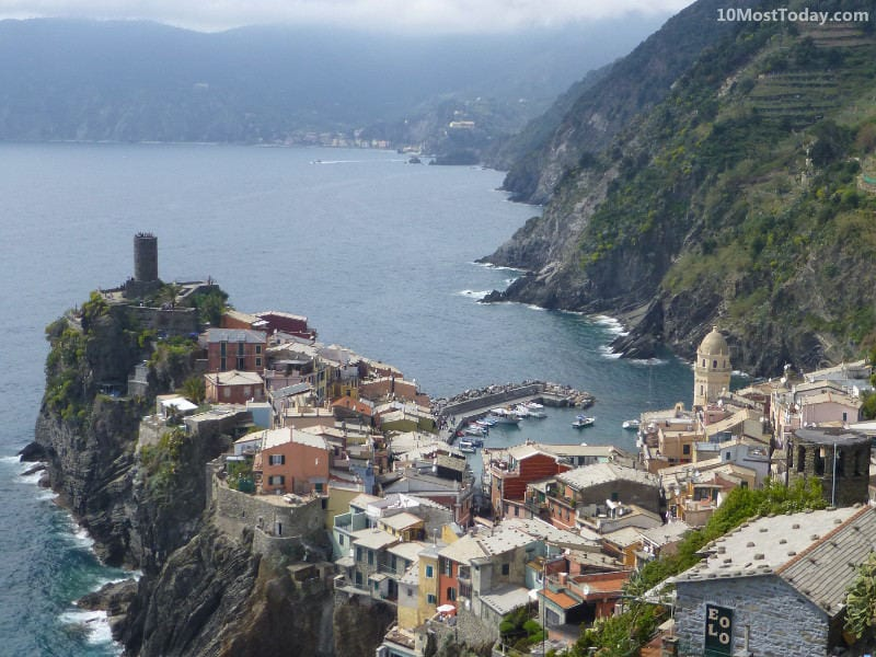 Vernazza, one of the villages in Cinque Terre, Italy. Cinque Terre is one of the world's most colorful places
