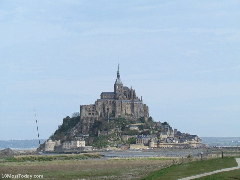 Mont Saint Michel in the western coast of France