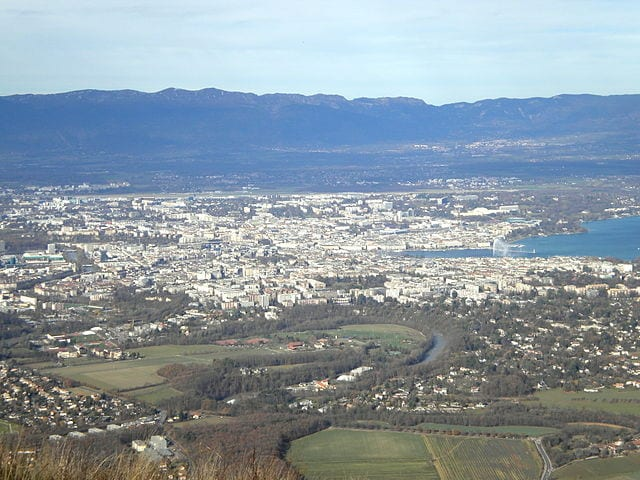 Best Attractions In Geneva: Geneva seen from Mont Salève