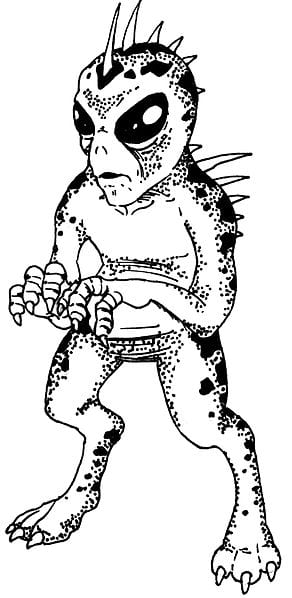 A famous drawing of a Chupacabra based on reports