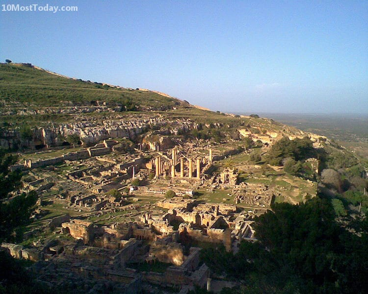10 Monuments Destroyed By War: Cyrene, Libya