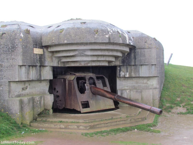 Recommended Landmarks in Normandy: The German Longues-sur-Mer Battery