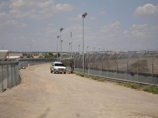 The United-States - Mexico border near El Paso
