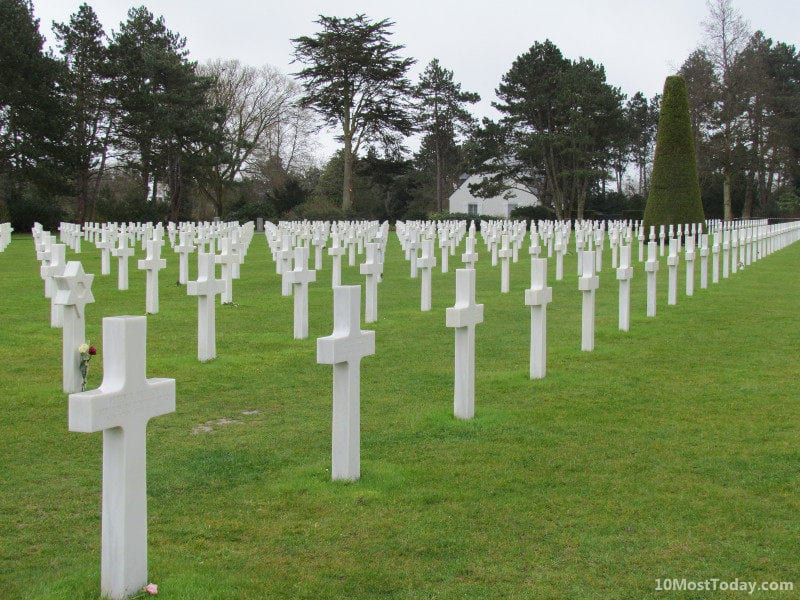 Recommended Landmarks in Normandy: The American Cemetery