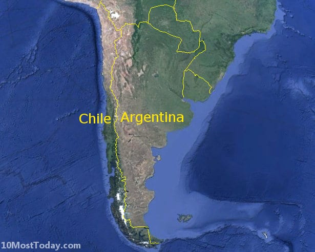 Longest Land Borders In The World: Argentina - Chile