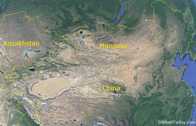 Longest Land Borders In The World: China - Mongolia