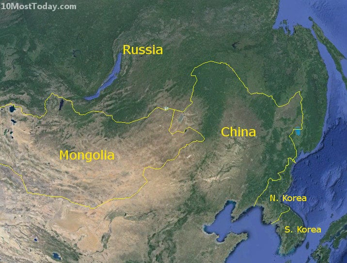 Longest Land Borders In The World: Russia - China