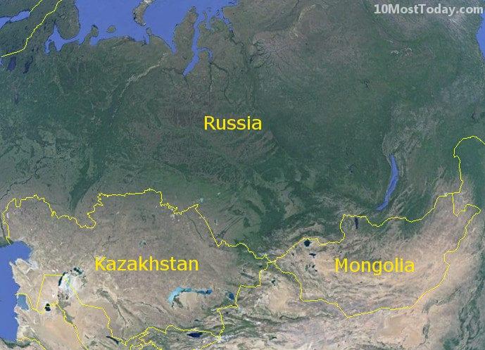 Longest Land Borders In The World: Russia - Kazakhstan