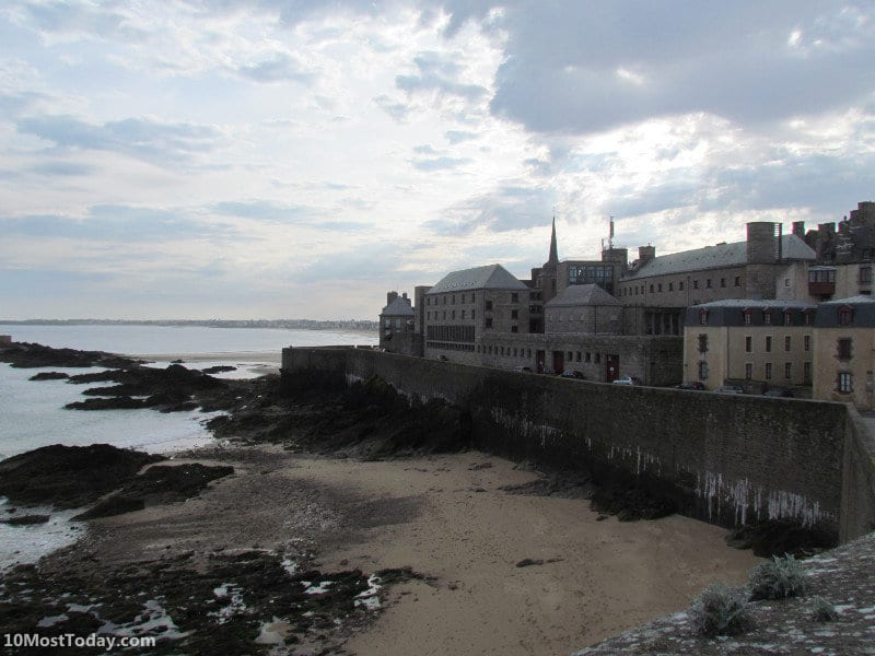 The city walls of the beautiful town of Saint Malo, Brittany