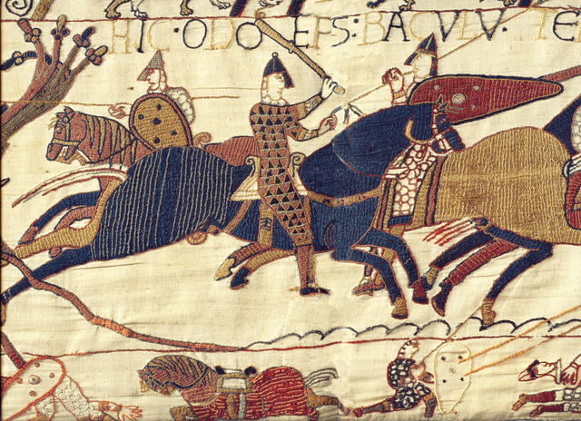 A small segment of the whopping 70 meters long Bayeux tapestry