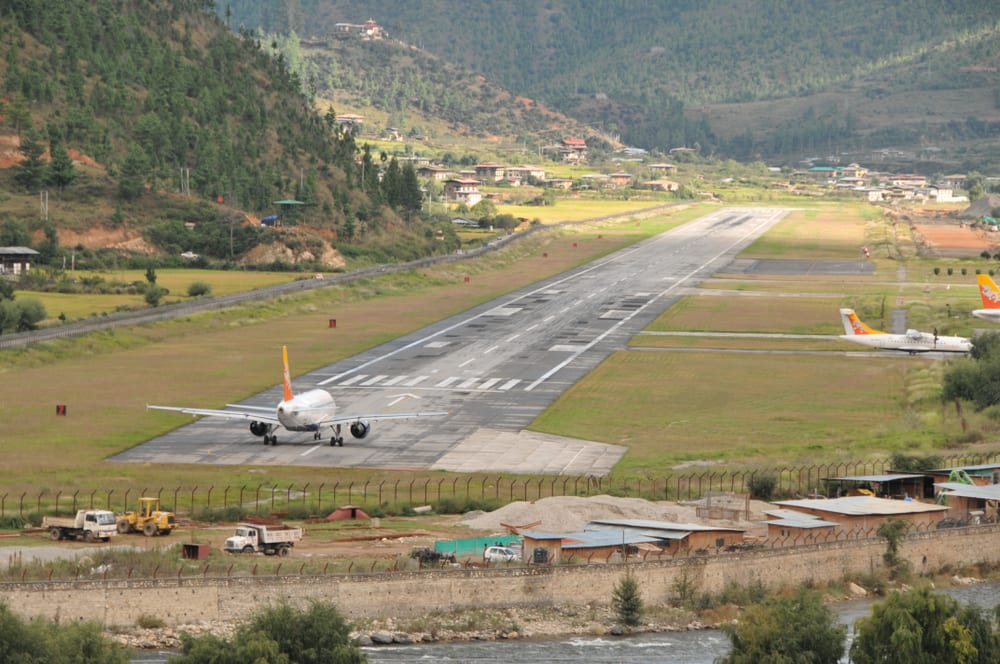 Most Dangerous Airports - Paro Airport