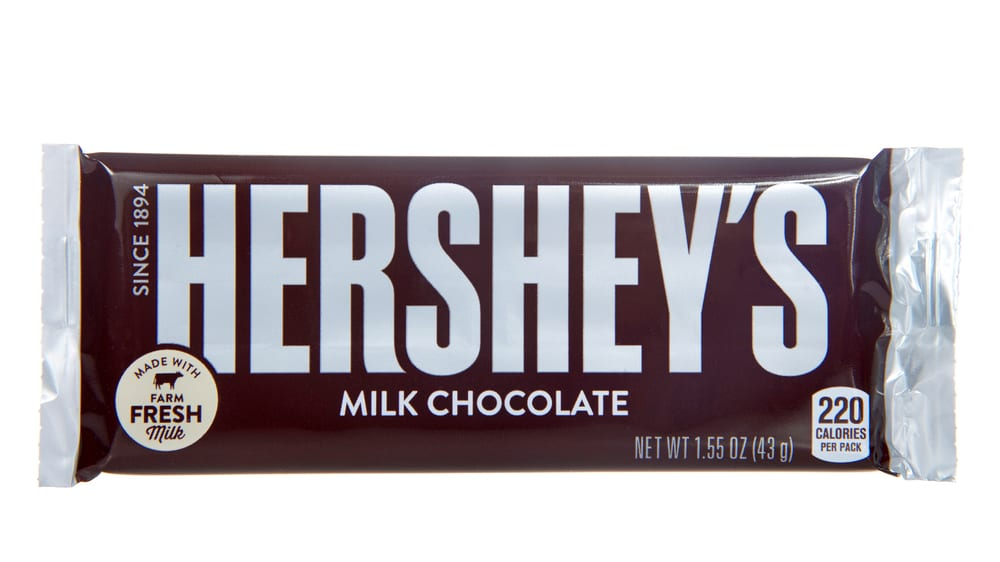 Most Popular Candies For Trick-or-Treating - Hershey Milk Chocolate Bar